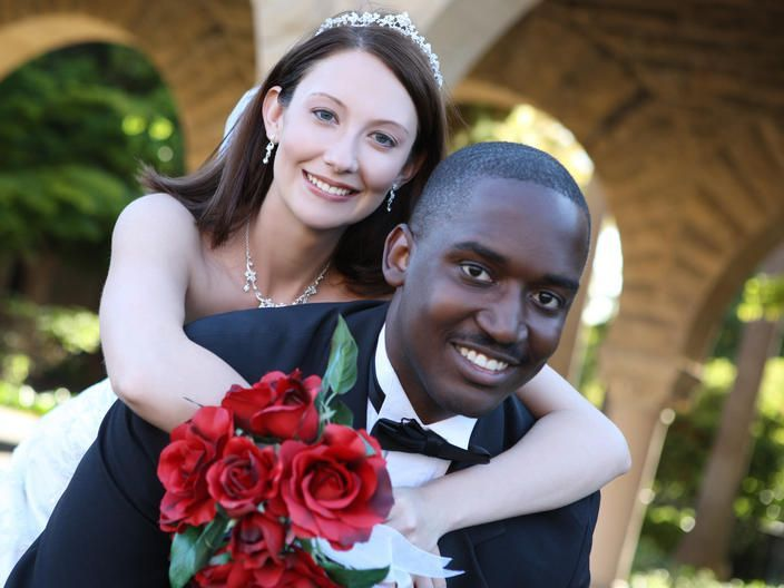 interracial newlyweds